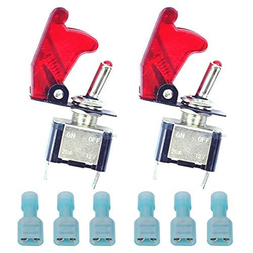 50 Pezzi Pulsante miniatura rosso un pulsanti normalmente aperti chassis in acciaio