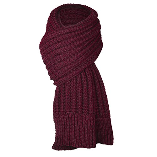 UPhitnis Lässig Einfarbig Strickschal, Winter Langschal | Warme Schal Herren Damen mit Flecht Muster (Männer Schal Muster)