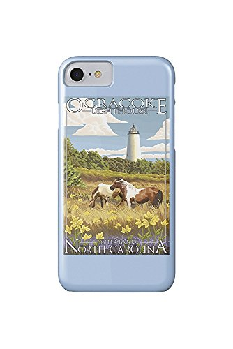 Outer Banks, North Carolina - Ocracoke Lighthouse (iPhone 7 Cell Phone Case, Slim Barely There) -