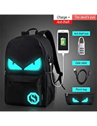 QWKZH Mochilas Fashion Backpacks Student Luminous Animation School Bags For Boy Girl Teenager USB Charge Computer Anti-Theft Laptop…