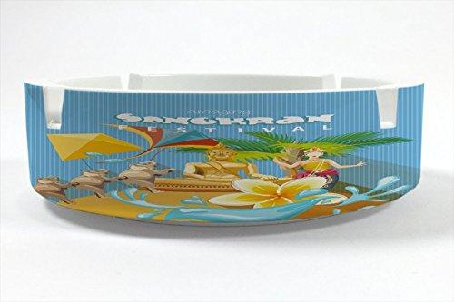 Preisvergleich Produktbild Aschenbecher Rund Welt Reise Songkran Thailand Ascher