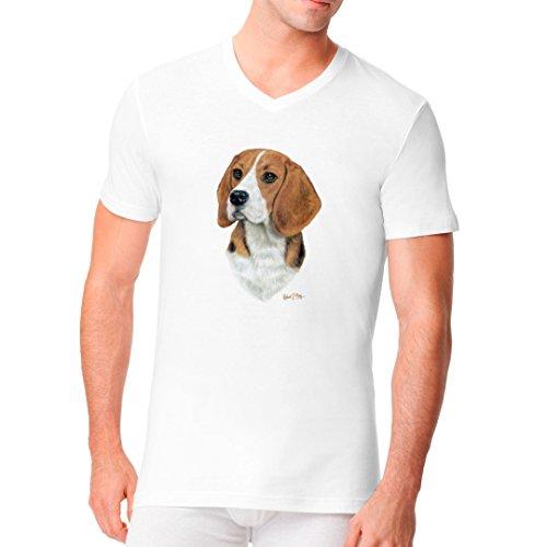 Im-Shirt - Hunde Shirt: Beagle cooles Fun Men V-Neck - verschiedene