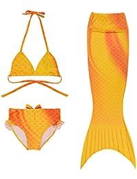3 Pièces Fille Bikini Mermaid Tail Maillot de Bain Princesse Sirène de Queue