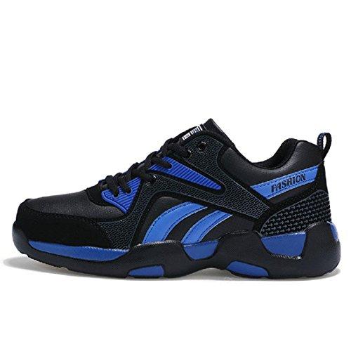 Chaussures De Sport Pour Hommes Mode Chaussures De Basket-ball Chaussures Anti-dérapantes Chaussures De Trekking Chaussures De Voyage Grande Taille Euro Dimension 38-45 Bleu