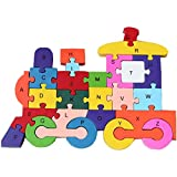 Trinkets & More Floor Jigsaw Puzzles for Toddlers Alphabets and Numbers Early Educational 3+ Years (Train)