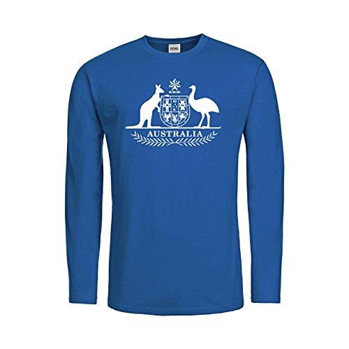 MDMA Kids T-Shirt Longsleeve Australien Wappen Motiv Australia N14-mdma-ktls00348-119 Textil royalblue / Motiv weiss Gr. ()