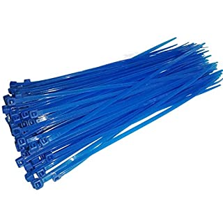 Cable Ties, 100 Pack of Zip Ties Heavy Duty - 200mm x 3.6mm - Premium Tie Wraps High Quality Strong Nylon, Tidy and Management Extension Cord and Wire (Blue)