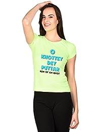 LetsFlaunt O Khottey De Puttar Punjabi T-shirt Girls Green Dry-Fit Nw