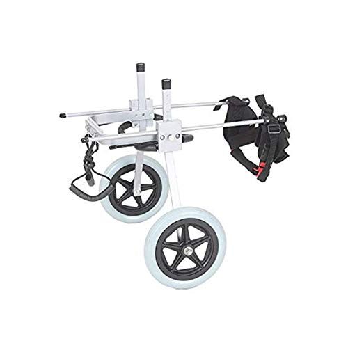 LMCWLY Hunderollstuhl, Haustierrollstuhl aus Aluminiumlegierung, Hunderoller mit Behinderung, Rehabilitations-Trainingswagen for Hinterbeine, 6 Größen sind nur verfügbar (Size : XS)