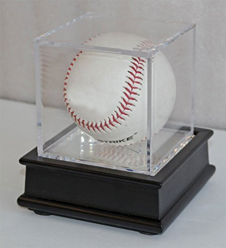 TopStage UV Pro Baseball Holder Cube Display Case and Wood Stand Black, B03-BLA by Top Stage