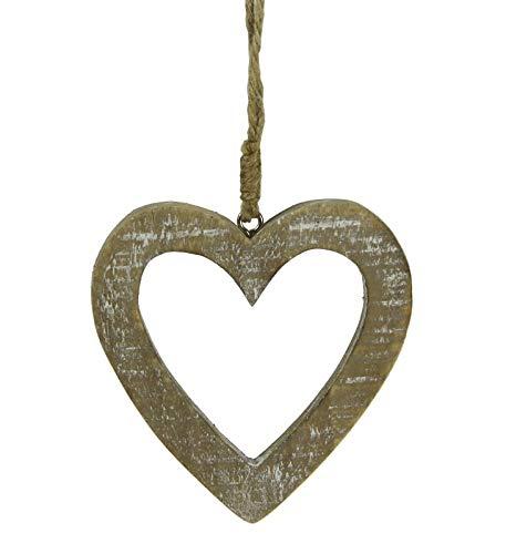 Stefanazzi Adornos navideños de Madera corazón D. Paquete 8 cm 12 Piezas