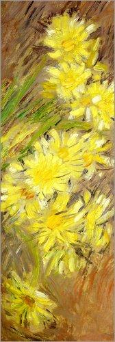 Posterlounge Lienzo 20 x 60 cm: Marguerites Jaunes de Claude Monet/Bridgeman Images - Cuadro Terminado, Cuadro sobre Bastidor, lámina terminada sobre Lienzo auténtico, impresión en Lienzo