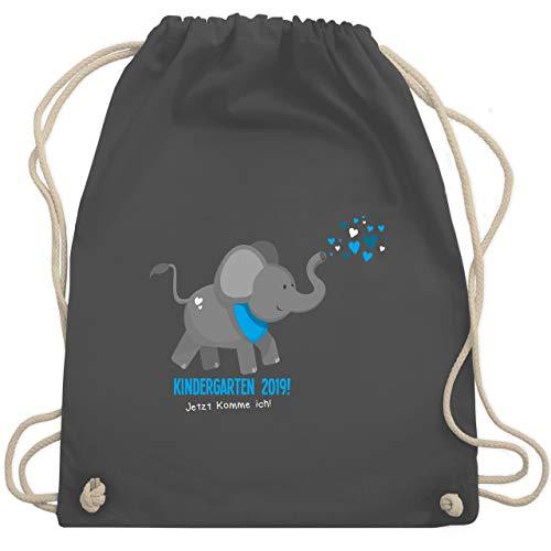 Kindergarten - Kindergarten 2019 süßer Elefant - Unisize - Dunkelgrau - WM110 - Turnbeutel & Gym Bag