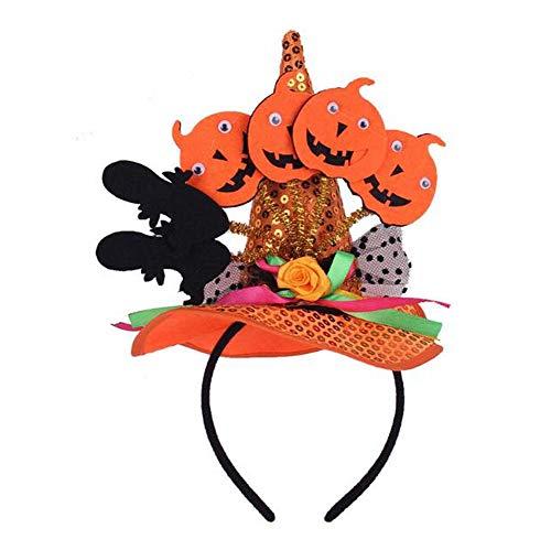 Hexe Stirnband Hut Stirnbänder Caps Stirnband Zubehör für Halloween Party, H1 (Katze In Den Hut-partei-zubehör)