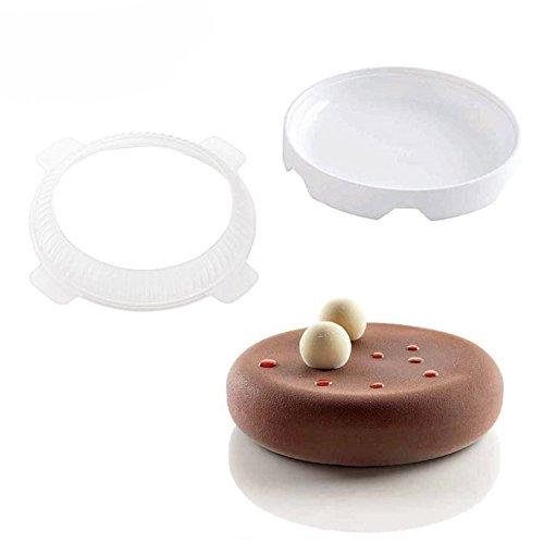 Molde de silicona con forma redonda para tartas, helado, molde para hornear, molde para repostería, decoración de repostería
