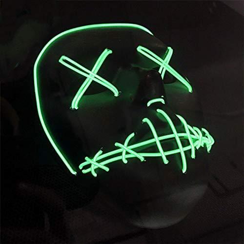 Yukun Maske Halloween Cool LED Dekorative Masken Party Wesentliche Sitz Dekoration Masken
