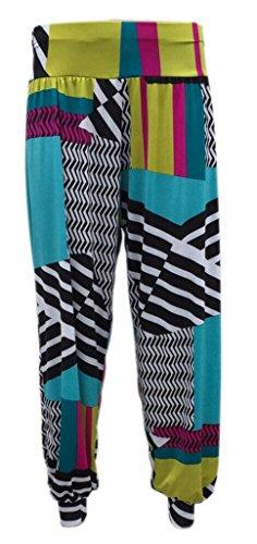 Pretty Fashion Women's Harem Trousers Ali Baba Long Ladies Girls Pants Baggy Harem Leggings Plus Size 8-22 Test