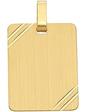 Gold 8 k ( 333 ) Gravurplatte - B. 18,2 mm - H. 22,9 mm