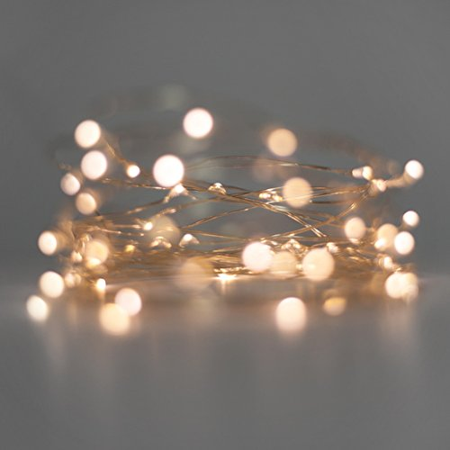 Electric Avenues 20 LED Micro Silver Wire Indoor Battery Operated Fairy String Lights Perfect For Christmas, Crafts Or Weddings
