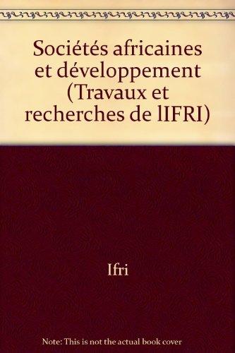 Sociétés africaines et développement