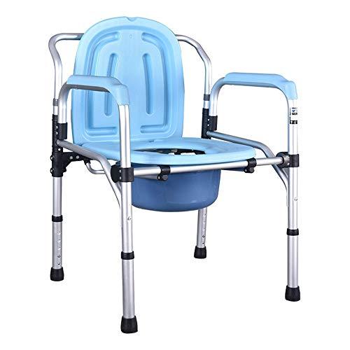 Toiletten-Toilettenstuhl, Toilettenstuhl, Drop Arm-Kommode für einfache Überweisungen, Nachttisch aus Stahl, für Senioren