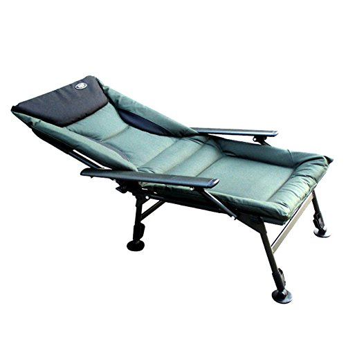QIDI Chaise Longue Pliante Outdoor Leisure Metal 125 * 52cm