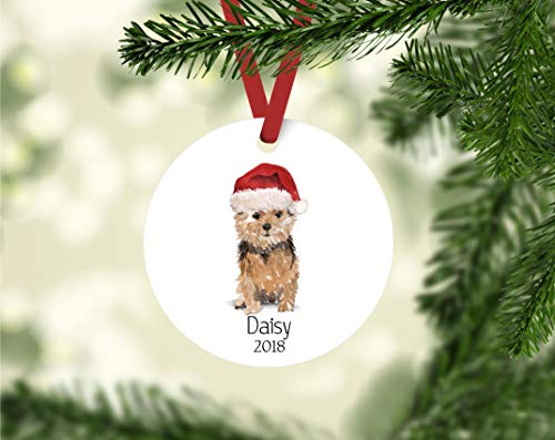 DKISEE Norfolk Terrier Ornament Personalized Dog Ornament Personalizesd Terrier Ornament Norfolk Terrier Owner Gift Terrier Ornament 3 inch -