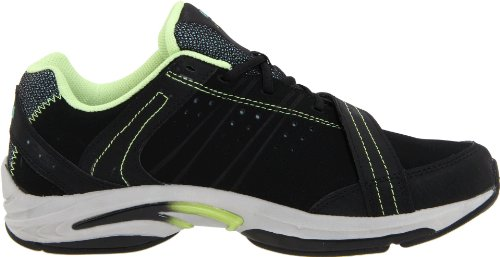 Ryka Synergy Femmes Toile Baskets Black-Light Green-Aqua