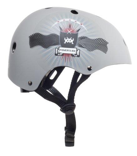 Powerslide Kinder Helm Allround Kids, Grau, S/M, 903138/5