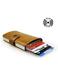 8a2663bbed sciuU Porta Carte di Credito, RFID Blocco, Ultra Sottile Portafoglio Wallet  Custodia in Eco