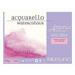Fabriano - 71-00303045- AEW BL 4CO Watercolour Paper- 30.5x 45.5cm Extra White