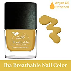 Iba Halal Care Breathable Nail Color, B18 Spicy Mustard, 9ml