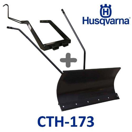 Lame à Neige 118 cm Noire + adaptateur pour Husqvarna CTH173