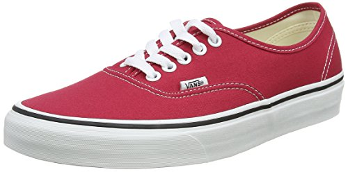Rosso 47 EU Vans Authentic Sneaker UnisexAdulto Crimson/True White ywp