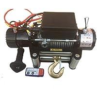 CIKO Torno eléctrico, 12V24v, Control Manual inalámbrico y Negro y manejo de Cables