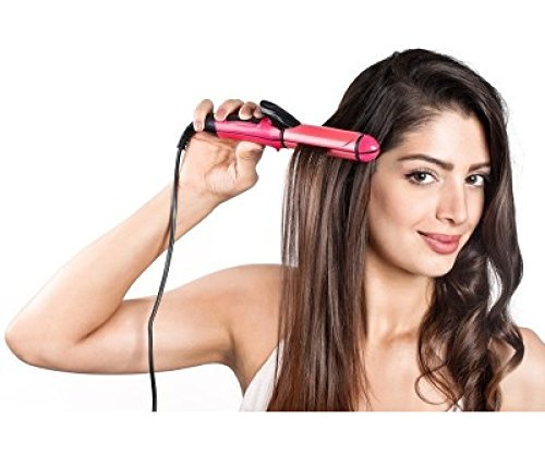 PROMINENT NOV@ Excellent 2 in 1 HAIR Beauty Set Curler and Straightener plus curler with ceramic plate  available at amazon for Rs.249