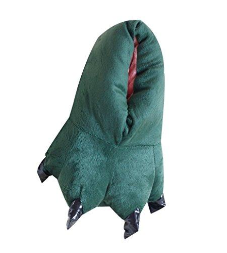 (ABYED® Kostüm Jumpsuit Onesie Tier Fasching Karneval Halloween kostüm Erwachsene Unisex Cosplay Schlafanzug- Einheitsgröße, Grüne Schuhe)