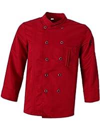 MagiDeal Giacche da Chef Cameriere Ristorazione Uniforme Hotel Top T-shirt per  Unisex 5c0e3bfda266