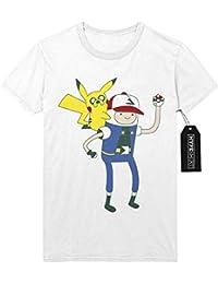 T-Shirt Pokemon Go TEAM INSTINCT Adventure TIme Mashup Finn and Jake Hype Kanto X Y Nintendo Blue Red Yellow Plus Hype Nerd Game C123137