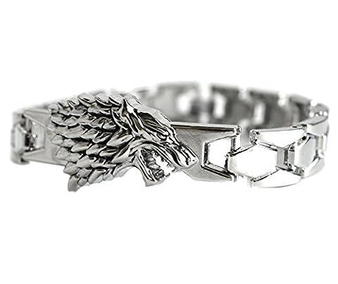 Game Of Thrones Bijoux - Bracelet jonc Motif loup inspiré du personnage