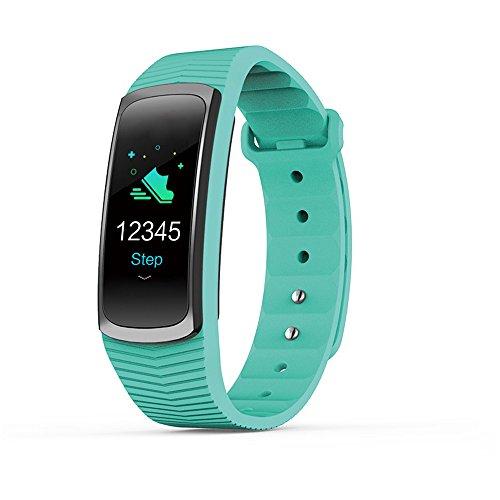 goodjinHH Fitness Armband mit Pulsmesser, Blutdruck, Wasserdicht IP67 Uhr Damen Herren mit Schrittzähler Uhr Smartwatch für iOS Android (Grün)