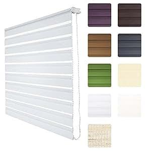 soldecor dl2 double store enrouleur jour nuit avec ou sans percage clips klemmfix montage. Black Bedroom Furniture Sets. Home Design Ideas