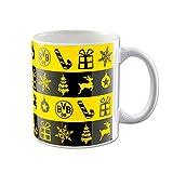 Borussia Dortmund Weihnachtstasse Tassen Tasse (one Size, schwarz/gelb)
