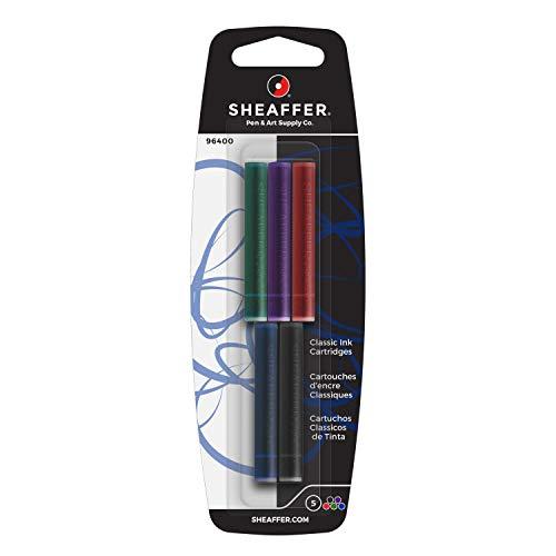 Sheaffer 96400 - Pack 5 cartuchos tinta pluma estilográfica