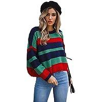 VIOY Suéter De Otoño E Invierno Cuello Redondo De Manga Larga Costura Floja Novia, Verde,Metro