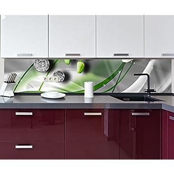 Küchenrückwand Diamant Lilie grün Nischenrückwand Spritzschutz ...