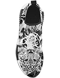 Dalliy Personalizado Leopardo de nieve Zapatos corrientes de las mujeres