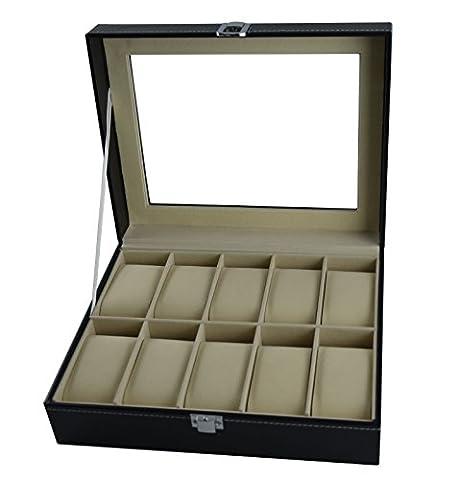 Ecrin Montres - DoubleBlack en Simili cuir Boîte à Montre