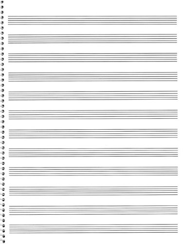 Passantino Music Papers: No. 75, 12 Stave, Size 9x12