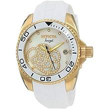 Invicta 0488 Angel Reloj para Mujer acero inoxidable Cuarzo Esfera blanco 9e6f075fd6d9